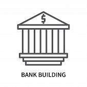 Bank Building Icon Isolated On White Background. Bank Building Icon Simple Sign. Bank Building Icon  poster