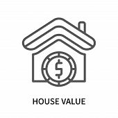 House Value Icon Isolated On White Background. House Value Icon Simple Sign. House Value Icon Trendy poster