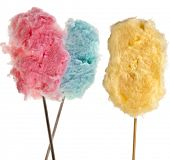 stock photo of candy cotton  - cotton sweet candy  isolated on white - JPG