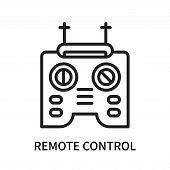 Remote Control Icon Isolated On White Background. Remote Control Icon Simple Sign. Remote Control Ic poster