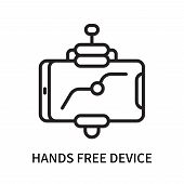 Hands Free Device Icon Isolated On White Background. Hands Free Device Icon Simple Sign. Hands Free  poster