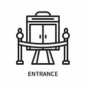 Entrance Icon Isolated On White Background. Entrance Icon Simple Sign. Entrance Icon Trendy And Mode poster