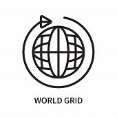 World Grid Icon Isolated On White Background. World Grid Icon Simple Sign. World Grid Icon Trendy An poster