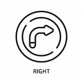 Right Icon Isolated On White Background. Right Icon Simple Sign. Right Icon Trendy And Modern Symbol poster