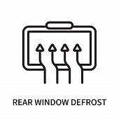 Rear Window Defrost Icon Isolated On White Background. Rear Window Defrost Icon Simple Sign. Rear Wi poster