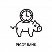 Piggy Bank Icon Isolated On White Background. Piggy Bank Icon Simple Sign. Piggy Bank Icon Trendy An poster