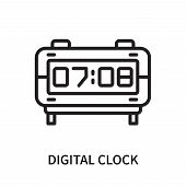 Digital Clock Icon Isolated On White Background. Digital Clock Icon Simple Sign. Digital Clock Icon  poster
