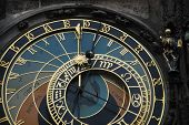 foto of mikulas  - detail of the famous astronomical clock on town square Prague - JPG