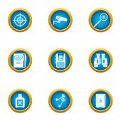 Preservation Icons Set. Flat Set Of 9 Preservation Icons For Web Isolated On White Background poster