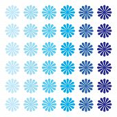 Vector Seamless Flower Ornament Pattern. Pattern Ornament With White Background. Abstract Ornamental poster