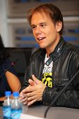 MOSCOW - MAY 6: Popular Dutch DJ Armin Van Buren at a press conferences on May 6, 2011 in Moscow, Ru