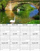 2008 Year Calendar Of A Canal At Swindon