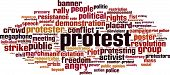 Protest Word Cloud Concept. Vector Illustration On White poster