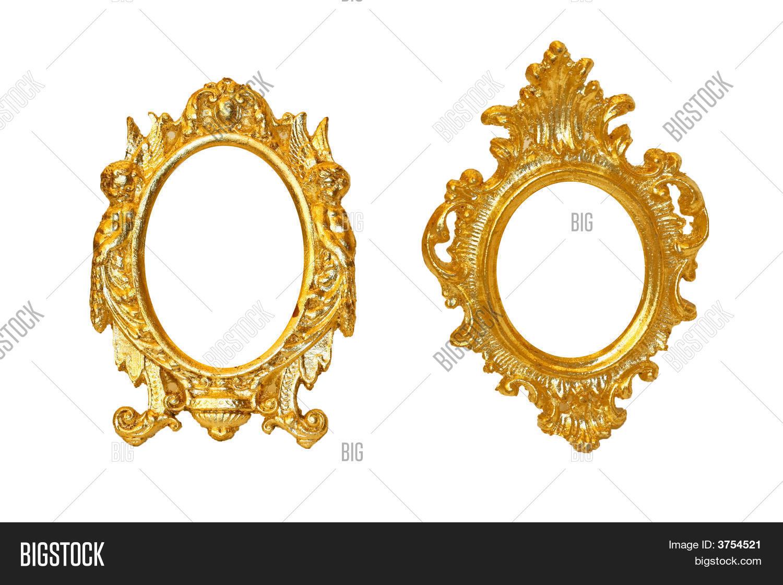Imagen y foto marcos ovalados dorados bigstock for Marcos de fotos dorados