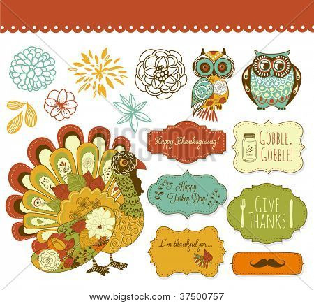 Happy Thanksgiving schöne ClipArt