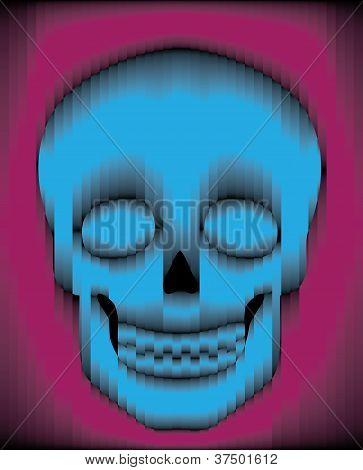 Sliced Gradient Skull