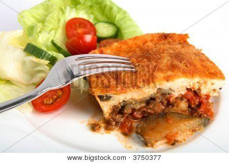 Moussaka Dinner With Fork