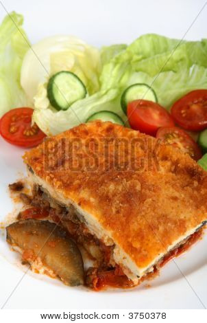 Moussaka Plate Vertical