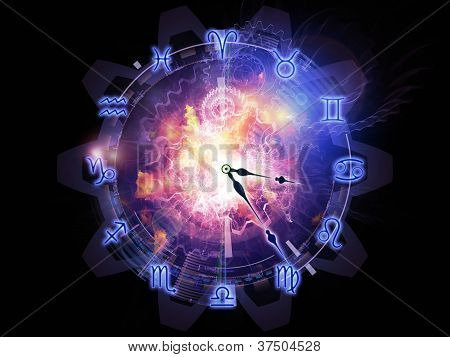 Abstract Zodiac Backdrop