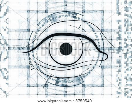 Abstract Technology Eye