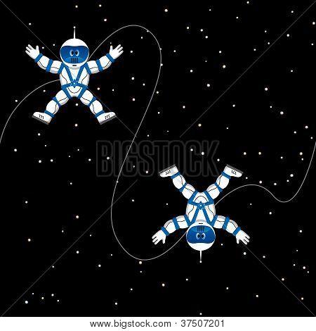 Spaceman Seamless Pattern