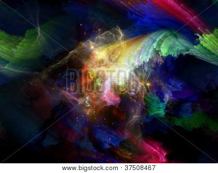 Interplay Of Paint And Light