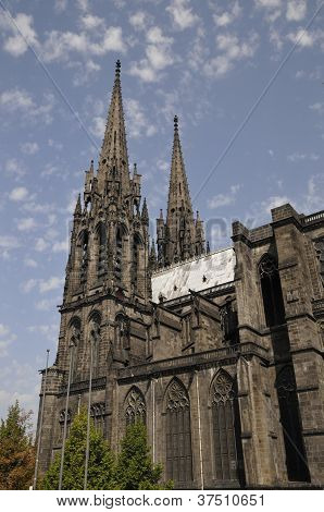 Side View Of The Cathedral Of Clermont-ferrand