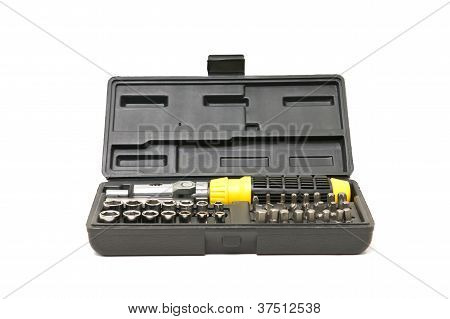 Screw Driver And Spanner Kit