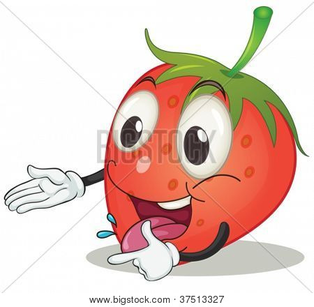 illustration of a strawberry on a white background