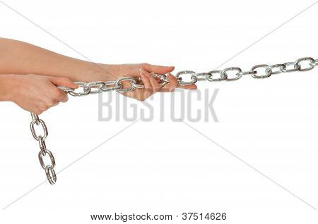 a long heavy metal chain