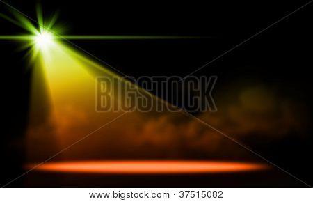 Stage lights. illustration.