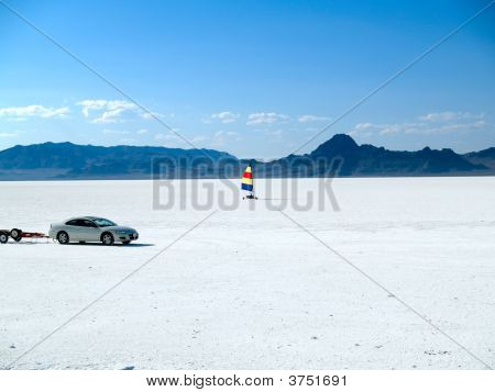Windsurfing Bonneville Salt Flats