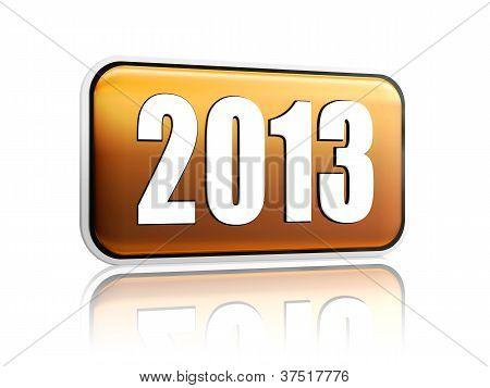 Year 2013 Golden Banner