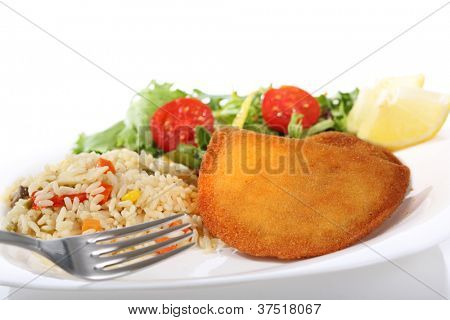meat rissoles isolated on white