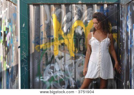 Portrait Of A Beautiful Young Fashion Model
