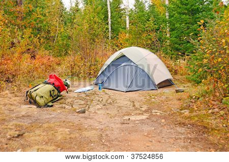 Fall Campsite In The Wilds