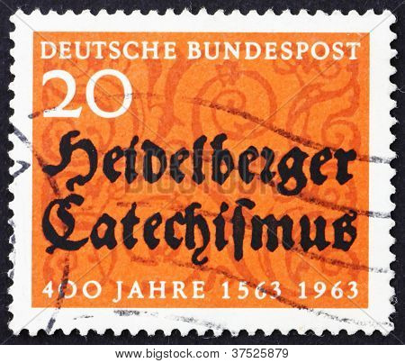 Postage stamp Germany 1963 Heidelberg Catechism