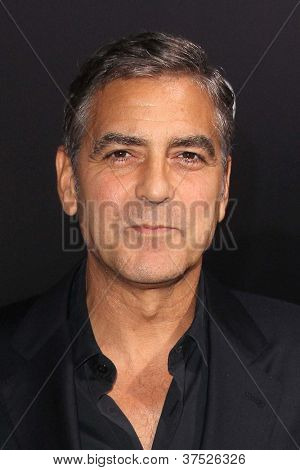 "LOS ANGELES - OCT 4:  George Clooney arrives at the ""ARGO"" Premiere at Samuel Goldwyn Theater on October 4, 2012 in Beverly Hills, CA"