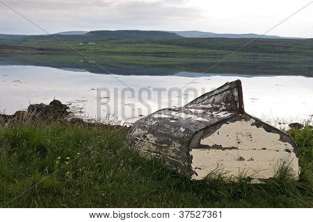 7242 Old Boat In Landscape