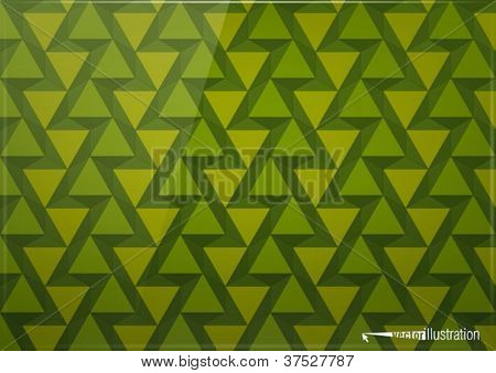 Green glossy background from triangles with dark and bright parts