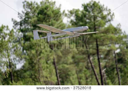 UAV army drone flying for a new mission