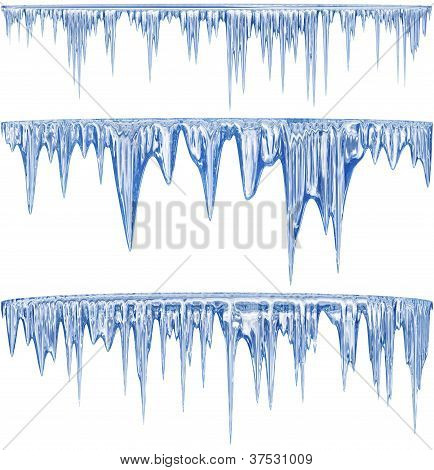 Blue cold icicles
