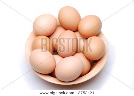 Bowl Of Fresh Eggs