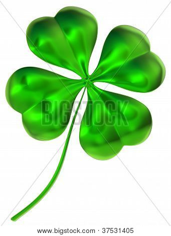 four-leaf clover as symbol of good luck