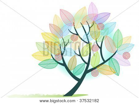 Abstract Rainbow Colored  Tree