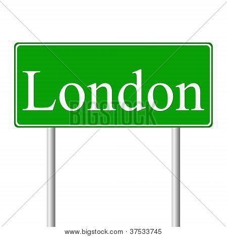 London green road sign
