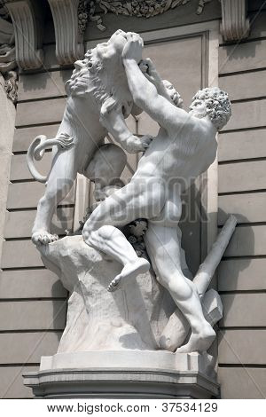 Hercules Fighting The Nemean Lion