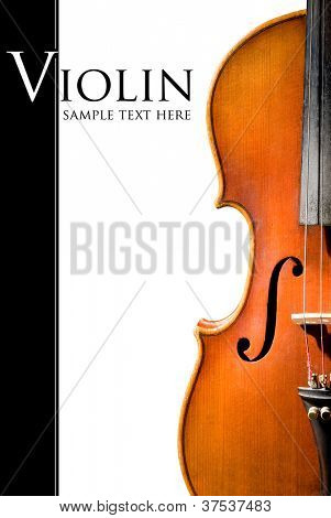 Violin shape. Space for text isolated on white