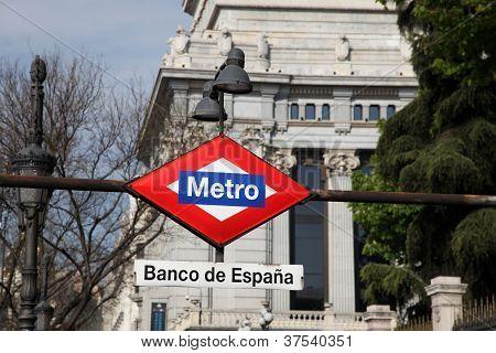 Metro Sign - Madrid