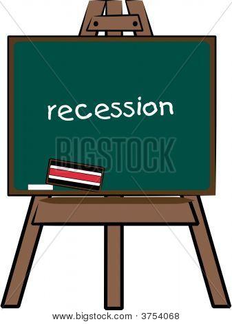 Chalkboard Easel Recession.